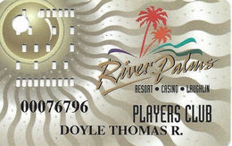 River Palms Casino Laughlin NV - 2nd Issue Slot Card With PPC Bottom Right Reverse - Casino Cards