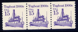 UNITED STATES, PLATE NO. STRIP OF 3, NO. 2260, MNH - United States