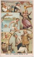 Chromo ALLEMAGNE Tapioca De L' étoile Médaille D'or à Exposition Universelle De 1889 Paris Bière Danse Jeu De Quille - Autres