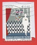 2011 (3227) Giornata Mondiale Del Teatro - Leggi Il Messaggio Del Venditore - 6. 1946-.. Repubblica