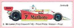 Sticker - Mc Laren (Ford Cosworth V8) - Piloot: Watson - Prost - Marlboro - Smiths - Castrol - Autocollants