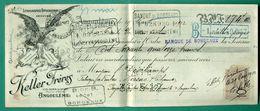 16 Angouleme Keller Frères Chemins Du Secours (derrière Théâtre ) Lithographie Typographie Gravure ( Logo Aigle )  1912 - Imprimerie & Papeterie