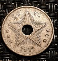 Belgian Congo, 20 Centimes, 1911 - 1910-1934: Albert I