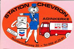 Sticker - Station Chevron - Duinkerkekeiweg Adinkerke - Gasolie Ook Aftanken - Autocollants