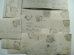 Lotto 17 Cartoline Primi 900  Bollo Rimosso Per Scritta Sottostante Castellaneta  Prov Lecce   ROMANTIQUE  INNAMORATI - Coppie