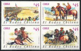 Chile, 1990, Rodeo, MNH Set Of 4 - Chili