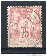 France  :  Yv  81  (o)  Obl Saint Gobain ,    N20 - 1876-1898 Sage (Type II)