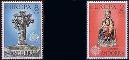 Andora Sp. 1974 Mi 88 - 89 Europa Cept Culture, Madonna Ordino, A Seven-branched Cross MHN** W834 - Neufs