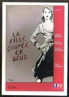 Carte Postale : La Fille Coupée En Deux (cinema Affiche Film) Illustration Miss-Tic (tag, Graffiti, Street Art) - Illustrateurs & Photographes