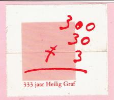 Sticker - 333 Jaar Heilig Graf (Turnhout 1662-1995) - Autocollants