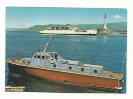 CARTOLINA POSTALE MESSINA - MADONNINA DEL PORTO E TRAGHETTO VG 1964 - Messina