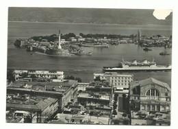 CARTOLINA POSTALE MESSINA - PANORAMA SCRITTA NON VG 1957 STRAPPETTO - Messina