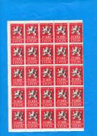 Feuille Complète De 50 Vignettes*** Impeccables -foire Internationale -LYON-1953-- - Commemorative Labels