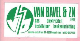 Sticker - VAN BAVEL & ZN - Kerkstraat 24 Meerle Hoogstraten - Gas Elektriciteit Keukeninrichting - Autocollants