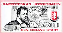 Sticker - RAIFFEISENKAS HOOGSTRATEN Een Nieuwe Start - 100 Frank - Autocollants