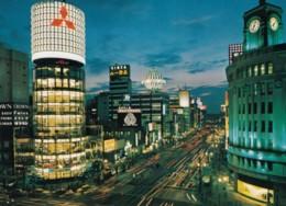 Tokyo Japan, Ginza Street Scene At Night, C1970s Vintage Postcard - Tokio