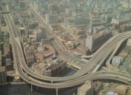 Tokyo Japan, Elevated Motorway In Edobashi Area Of City, Aerial View Of City, C1970s Vintage Postcard - Tokio