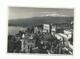 CARTOLINA POSTALE MESSINA - TAORMINA L'ETNA VULCANO  VG 1954 - Messina