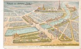 Chromo Potage Les Perles Du Japon A Chapu Exposition Universelle De 1900 Paris Vue à Vol D' Oiseau - Autres