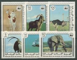 Mauretanien 1978 WWF Naturschutz Seltene Tiere Elefant Manati 595/00 Postfrisch - Mauritanie (1960-...)