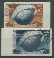 Sowjetunion 1949 75 Jahre Weltpostverein UPU Erdkugel 1383/84 B Gestempelt - 1923-1991 URSS