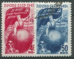 Sowjetunion 1949 Kampf Des Volkes Für Den Frieden 1430/31 Gestempelt - 1923-1991 URSS