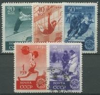 Sowjetunion 1949 Sport Skispringen Eishockey 1409/13 Gestempelt - 1923-1991 URSS