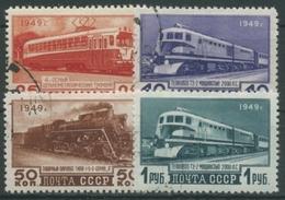 Sowjetunion 1949 Verkehrswesen Lokomotive Straßenbahn 1414/17 Gestempelt - 1923-1991 URSS