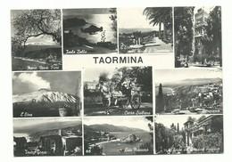 CARTOLINA POSTALE MESSINA - TAORMINA VEDUTE VARIE ANNI 50 NUOVA - Messina