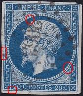 N°14A, Position 049G2, Panneau G2, Oblitéré Pc 2063, 1er Choix - 1853-1860 Napoléon III