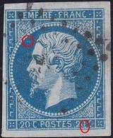 N°14A, Position 041G3 1er état, Panneau G3, TB. - 1853-1860 Napoléon III