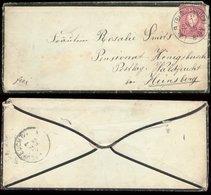 16409 DR Pfennig Trauer Brief  Laer Osnabrück - Waldfeucht 1886 ,Bedarfserhaltung Ohne Inhalt. - Deutschland
