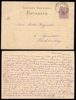 16238 DR Pfg GS Karte Güldenhof Jordanow - Güstrow 1883 ,  Bedarfserhaltung - Deutschland