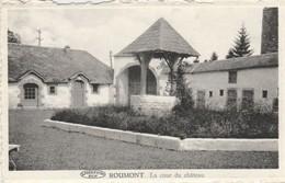Roumont Sur Ourthe , La  Cour Du  Château Casayui.; Timbre Luxembourg Et Taxe Bruxelles 1949 - Libin