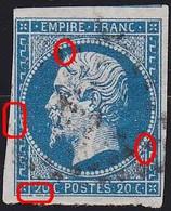 N°14A Position 049G2, Panneau G2 TB - 1853-1860 Napoléon III