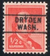 "USA Precancel Vorausentwertung Preo, Locals ""DRYDEN"" (WASH). - Stati Uniti"