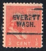 """USA Precancel Vorausentwertung Preo, Locals """"EVERETT"""" (WASH). - Stati Uniti"""