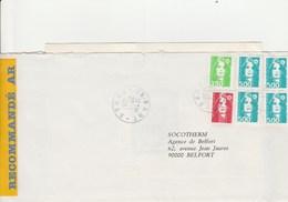 MARCOPHILIE  MARIANNE DU BICENTENAIRE AFFRANCHISSEMENT TRICOLORE DE BART - Postmark Collection (Covers)