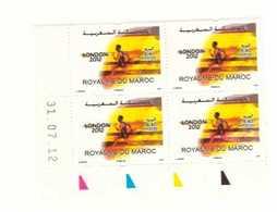 Coin Daté De 4 Timbres Maroc De  2012. N° 1635 Jeux Olympiques Londres 2012. - Maroc (1956-...)