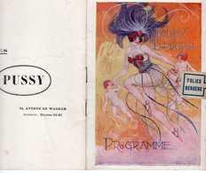 PROGRAMME FOLIES BERGÈRE 1920 LEMARCHAND DORVILLE BACH CHARLEY DEVILDER MITTY TILLIO AGNÈS SOURET ! MAFER ROSERAY... - Programmes