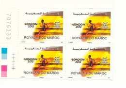 Coin Numéroté De 4 Timbres Maroc De  2012. N° 1635 Jeux Olympiques Londres 2012. - Maroc (1956-...)