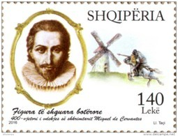 Albania Stamp 2016. Miguel De Cervantes. Don Quixote. Distinguished International Personalities. Set MNH - Albanie