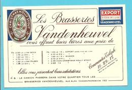 BRASSERIE VANDENHEUVEL / CHRISTMAS HOLLY STOUT / EXPORT / BRUXELLES  (B6843) - Alimentaire