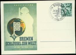 04372 DR So. Karte + SoStpl. Bremen Ausstellung 1938 - Deutschland