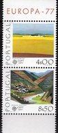 EUROPA 1977 Portugal 1360/1 ZD Aus Block 20 ** 12€ Südportugal Landschaft Ebene Gebirge Hoja S/s Bloc Sheet Bf CEPT - 1910-... République