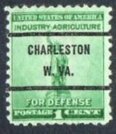 "USA Precancel Vorausentwertung Preo, Locals ""CHARLESTON"" (W.VA). - Stati Uniti"
