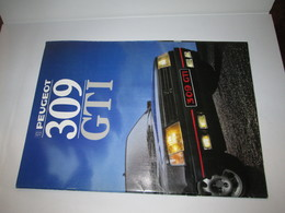 Brochure Publicitaire Catalogue PEUGEOT  309  GTI - Auto/Moto