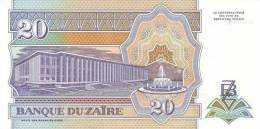 ZAIRE P. 56 20 Z 1993 UNC - Zaïre