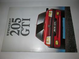 Brochure Publicitaire Catalogue PEUGEOT  205  GTI - Auto/Moto