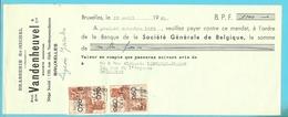 BRASSERIE VANDENHEUVEL ST-MICHEL BRUXELLES 1950 (F848) - 1950 - ...
